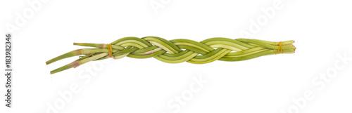 In de dag Verse groenten stems of garlic, spice