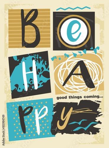 badz-szczesliwy-dobre-rzeczy-nadchodzi-retro-szablon-wydruku-plakatu