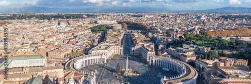 Foto op Canvas Rome Panorama of central Rome including Saint Peter's Square and the Vatican