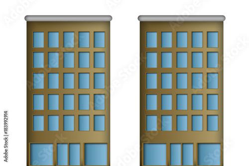 Rascacielos y bloques de pisos.