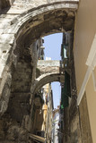 Ancient walls of Split city in Croatia - 183995956