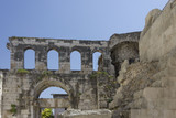 Ancient ruins of Diocletian Palace in Split, Croatia - 183995957