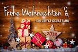 Weihnachtskarte  -  Frohe Weihnachten und ein gutes neues Jahr 2018
