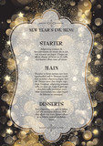 Decorative New Year's Eve menu - 184007342