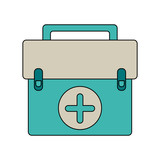First aids suitcase icon vector illustration graphic design - 184015184