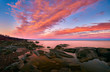 Pink Sunset at Brighton Beach