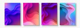 A4 abstract color 3d paper art illustration set. Contrast colors. Vector design layout for banners, presentations, flyer - 184029782