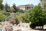 Temple of Hephaestus, north-west side of the Agora of Athens, Greece - 184039390