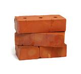 Stack of old red bricks - 184062951