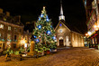 Petit-Champlain at Lower Old Town (Basse-Ville) at night on christmas event