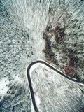 Winter Mountain Road From Above