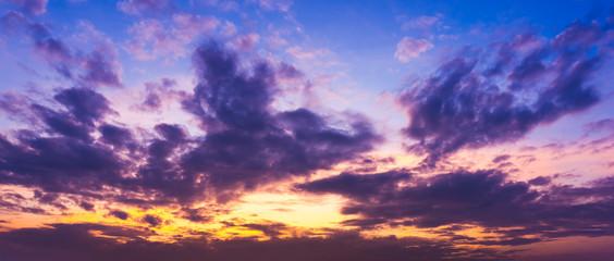 Panorama sky at morning and cloud