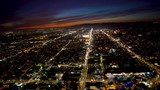 Aerial view of a Los Angeles, CA in 4K - 184071570