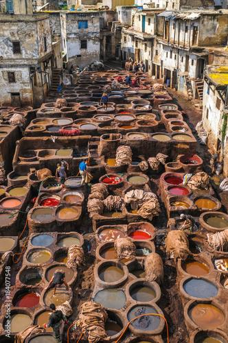 Plexiglas Marokko Tannery in Fez, Morocco