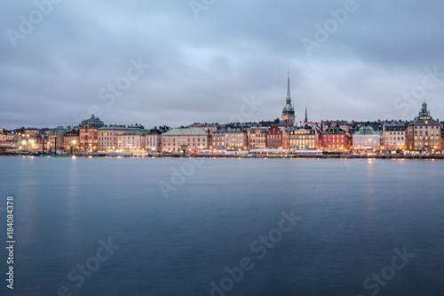 In de dag Stockholm View on the Gamla Stan in Stockholm, Sweden.