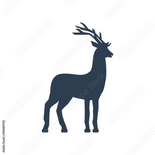 Aluminium Hipster Hert Buck Icon on white background.