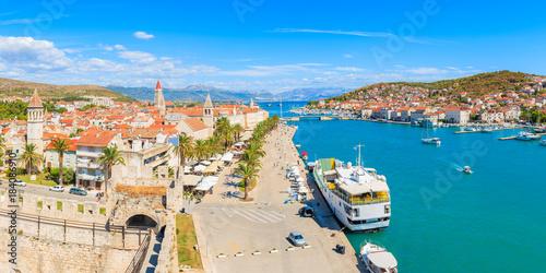 Fotobehang Marokko Panorama of Trogir town from castle walls, Dalmatia, Croatia