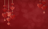 Glitter heart shape decorations for Valentine Day - 184088179