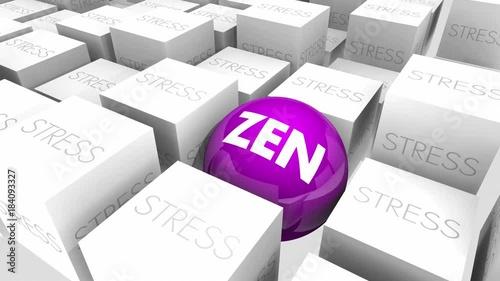 Sticker Zen Stress Relief Purify Relax Enlightenment 3d Animation
