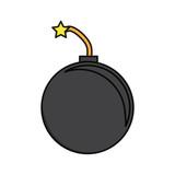 round bomb icon image - 184097380