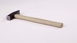 New hammer with wooden handle isolater on the white - 184099928