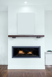 Modern Fireplace with copy space for Art. - 184105550