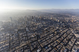 Aerial view of urban smog and sprawl in downtown Los Angeles, California.   - 184106362