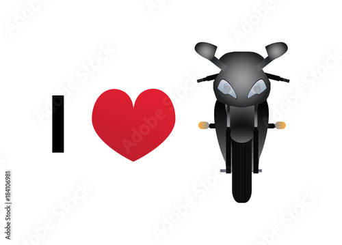 I love motorbike vector icon © petrroudny