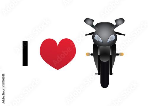 I love motorbike vector icon © petrroudny