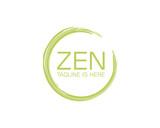 Classic Green Circle Zen Company Logo Symbol