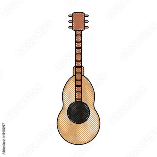 Fotobehang Muziek Acoustic guitar instrument icon vector illustration graphic design