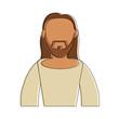 Jesus face cartoon icon vector illustration graphic design - 184113928