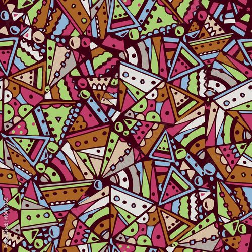 Fototapeta Seamless pattern with Ethnic Design. Vector illustration.