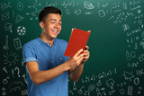 Portrait Of Male Student with books - 184123143