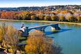 Automne sur Avignon et le pont Saint-Bénézet