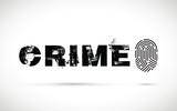 Crime prevention with fingerprint on a black background.