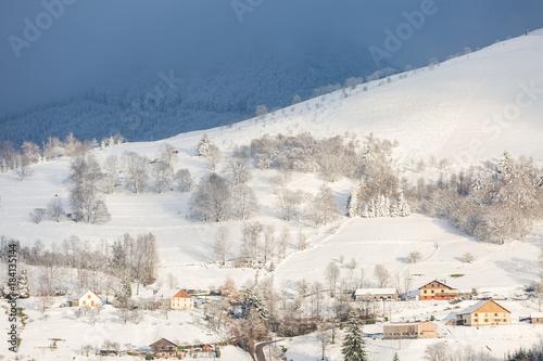 Staande foto Wit Hiver dans les Vosges