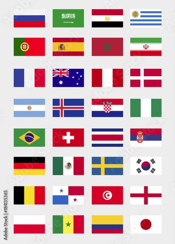 World Cup Flags 2018 Russia. 2018 Gruppen. WM Flags 2018. 2018 Teilnehmer Bälle.