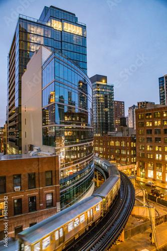 Fotobehang Chicago Central Loop - Chicago - USA