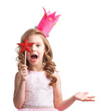 Little fairy with magic wand - 184143500