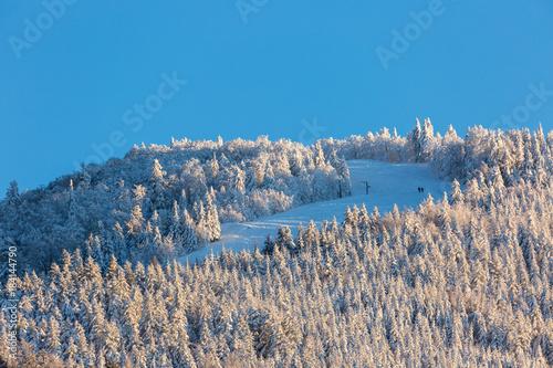 Foto op Canvas Blauw piste de ski des Vosges