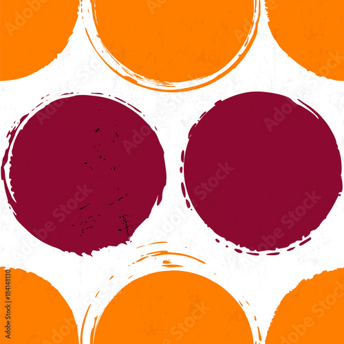 seamless polka dots background pattern, with circles, strokes and splashes
