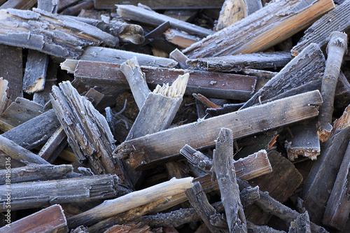 Staande foto Brandhout textuur Firewood