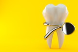 Tooth with dental tool - 184158370