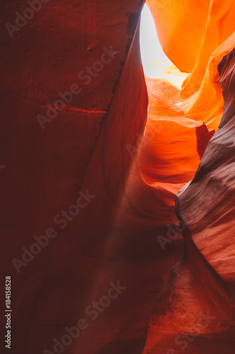 Foto op Plexiglas Bordeaux Antelope Canyon in the Navajo Reservation near Page, Arizona USA