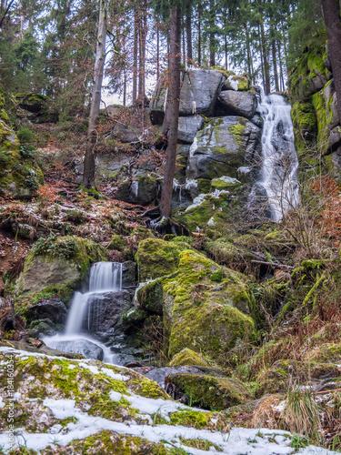 Wasserfall in Sachsen - 184160354