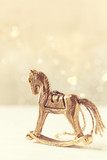 Vintage Rocking Horse; Christmas Tree Decoration - 184163131