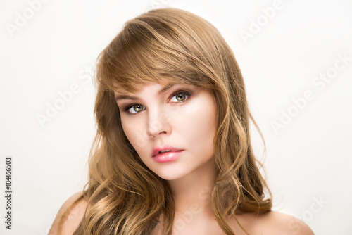 Beauty portrait for make up and skin care Poster