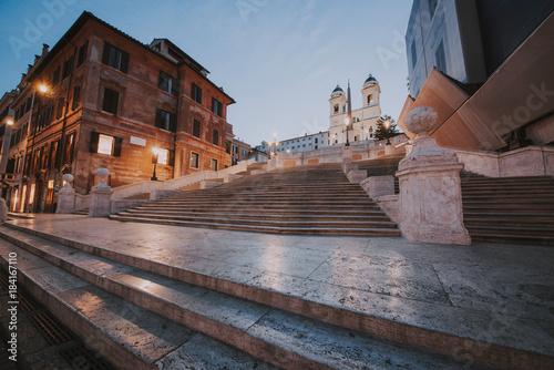 Foto op Canvas Rome Beautiful Piazza di Spagna in Rome