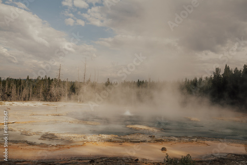 Foto op Canvas Donkergrijs Yellowstone National Park